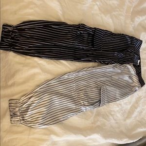 Sorella Pants - Brand new Sorella pinstripe satin pants size small